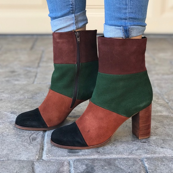 3972f78518bc8a Leather Color Block Boots
